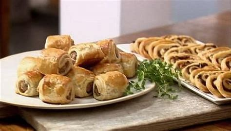 pastry canapes recipes how to simple puff pastry canapés by lorraine pascale