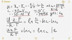 Konzentration Berechnen : spannung und konzentration berechnung einer konzentration ber nernstgleichung nanolounge ~ Themetempest.com Abrechnung