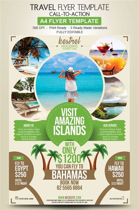 travel agency flyer design advertise  holiday deals