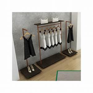 Portant Vetement Bois : portant vetement pr sentation en facing en bois et m tal ~ Teatrodelosmanantiales.com Idées de Décoration