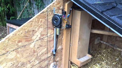 automatic chicken coop door simple automatic chicken coop door