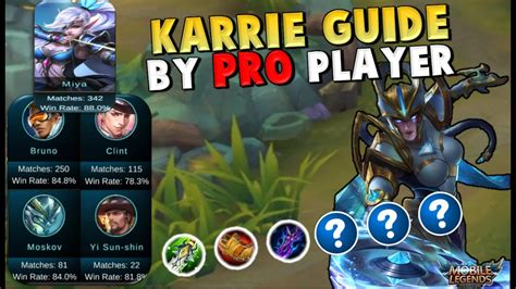 How To Play Karrie ! Guide, Build & Gameplay Mobile