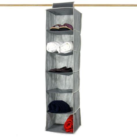 space saver 6 shelf hanging closet organizer 12x12x47 quot ebay