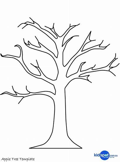 Tree Printable Template Coloring