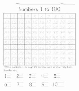 template for numbers 1 100 - number names worksheets number tracing sheets 1 10