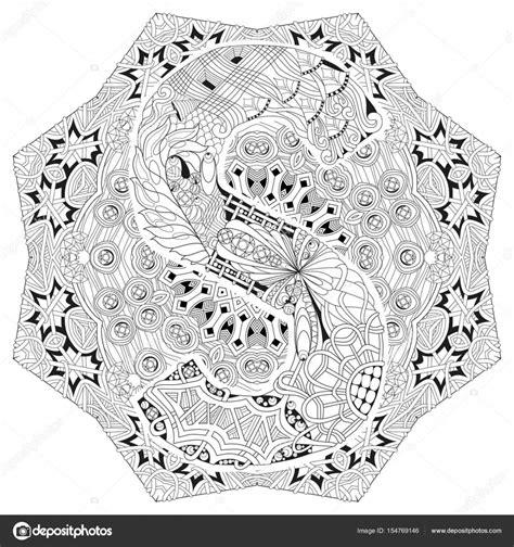 Kleurplaat Mandala Letter D by Mandala Met Letter S Om In Te Kleuren Vector Decoratieve