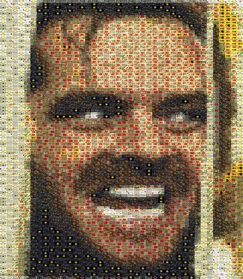 mosaic paying tribute  american actor jack nicholson