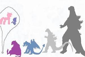 MLP/Godzilla Size Comparison by lazejovanov on DeviantArt