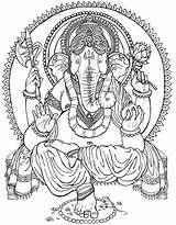 Coloring Ganesha Ganesh Buddha Drawing Lord Pages Colouring Painting Tattoo Paintings Adult Books Coloriage Draw Drawings God Deviantart Elephant Fashioned sketch template