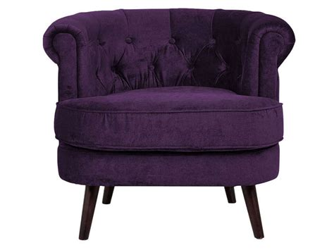 confo canapé fauteuil en tissu felix coloris violet vente de tous les