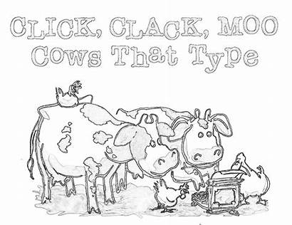 Coloring Moo Clack Cows Type Pages Activities