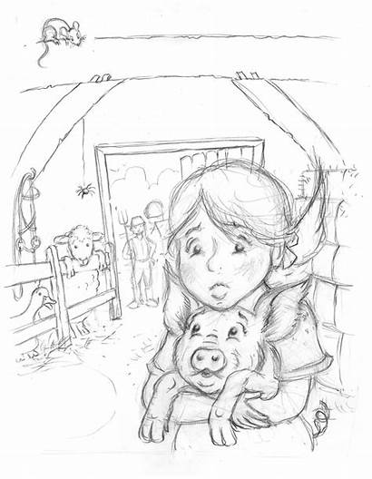 Web Charlottes Pages Charlotte Coloring Fern Pig
