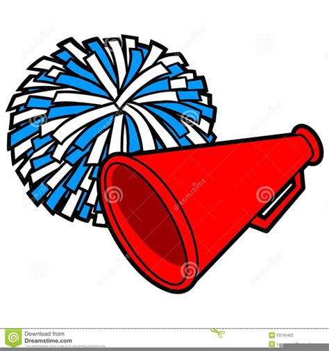 Megaphone Clip At Clker Vector Clip Clipart Of Pom Poms And Megaphones Free Images At Clker