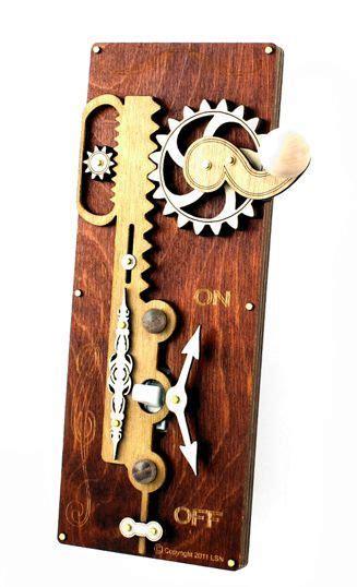 steampunk switch plates single rack pinion switch plate cinnamon  decorative switch