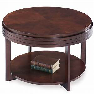 leick chocolate cherry round condo apartment coffee table With condo coffee table