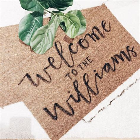cheap personalized doormats 25 best ideas about welcome mats on doormats