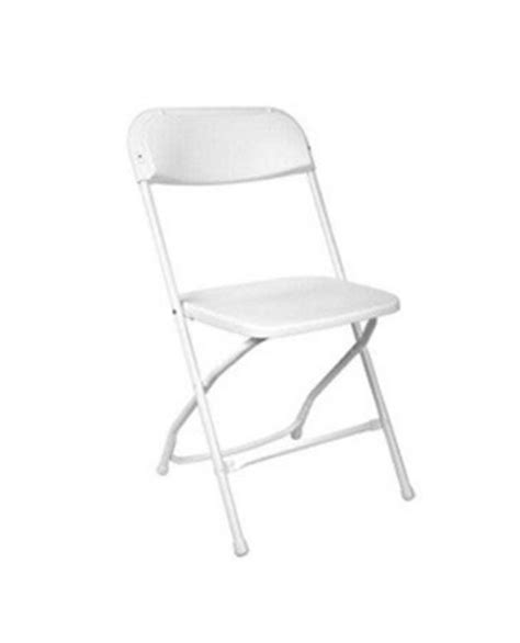 white plastic samsonite chair platinum event rentals