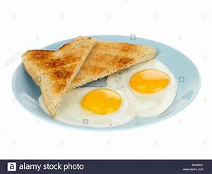 Fried Eggs with Toast Stock Photo: 25501771 - Alamy