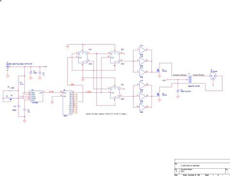 Vac Car Inverter Circuit Power Supply Diagram