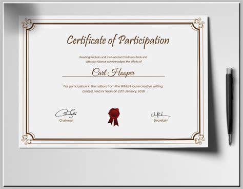 certificate  participation designs templates psd