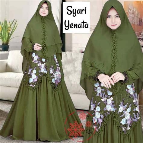 model baju gamis syari brukat setelan jilbab terbaru ryn