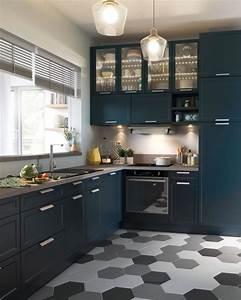 Idee relooking cuisine sol cuisine carrelage parquet for Idee deco cuisine avec cuisine carrelage gris anthracite