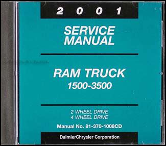 online car repair manuals free 2001 dodge ram van 3500 regenerative braking 2001 dodge ram truck repair shop manual factory reprint set gas diesel pickup