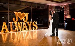 vintage marquee lights weddings With 3 foot marquee letters