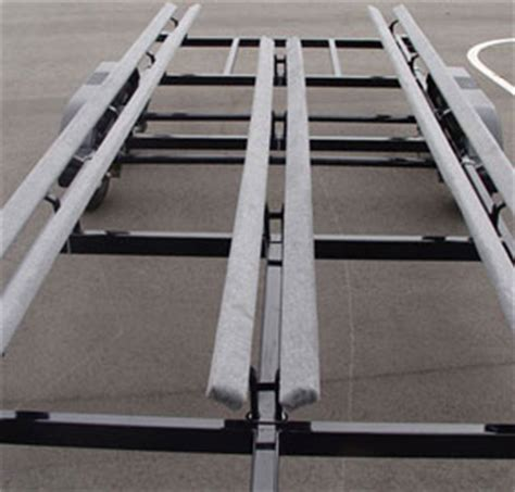 Bunk Carpet For Boat Trailers by Options Of Flote On Pontoon Trailers