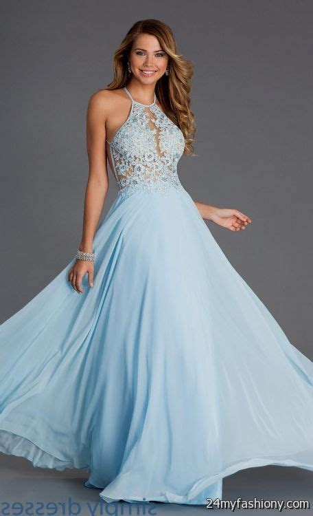 light blue prom dress light blue lace prom dress 2016 2017 b2b fashion