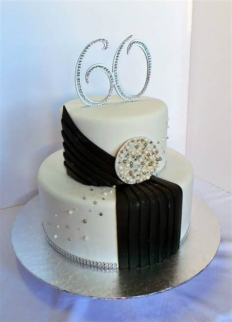 Is someone special celebrating a birthday?? 60th glamorous birthday cake. Design was brought in by client by unknown cake artist… | 60th ...
