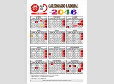 2016 Calendario laboral 5 Printable 2018 calendar Free