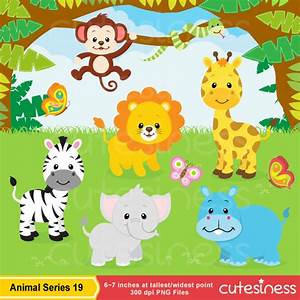 Jungle Animal Clipart , Safari clipart, Safari Clip art ...