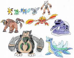 Ash's Mega Evolution Team - Kanto by MegaloRex on DeviantArt