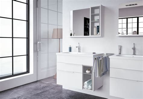 nook bathroom cabinet mirror grey white