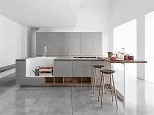 kitchen with island musa ii by polaris life design aris With cucine contemporanee bonate sopra