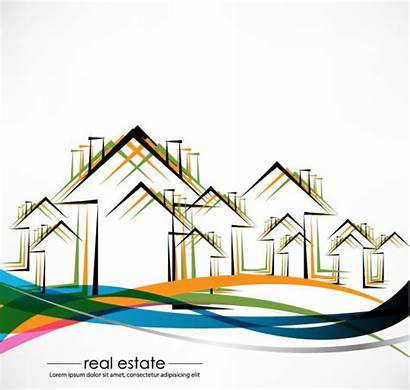 Building Vector Estate Abstract Elements Architecture Commercial