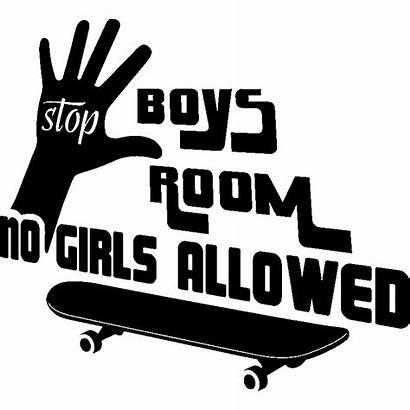 Allowed Boys Sticker Citation Porte Ambiance Stickers