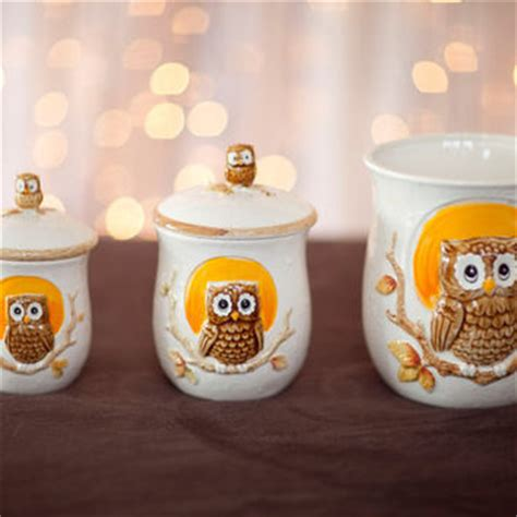 Owl Canisters For The Kitchen by Shop Yellow Canisters On Wanelo