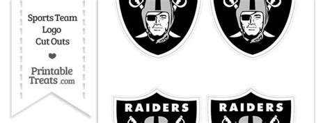 small oakland raiders logo cut outs