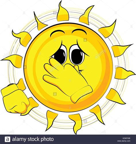 where to buy sun ls for sad cartoon sad sun holding his nose because of a bad smell