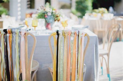 decoration chaise mariage southwestern palm springs wedding ruffled