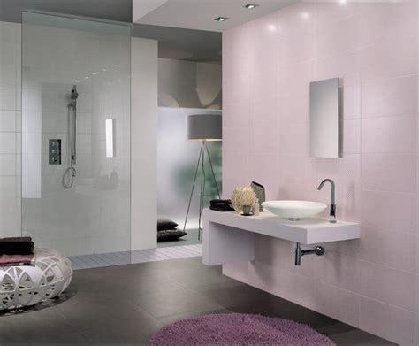 blush pink tiled accent wall   modern bathroom