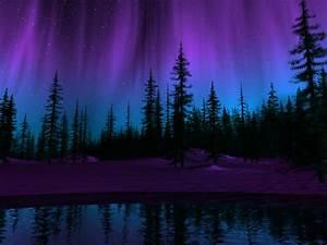purple northern lights wallpaper | Painting inspiration ...