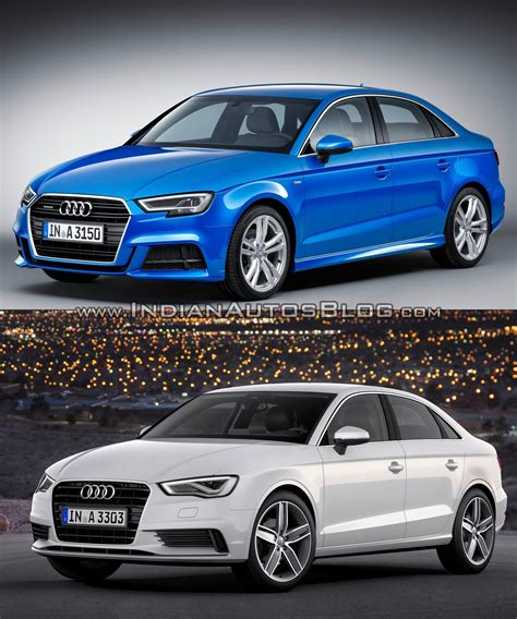 audi a3 sedan facelift old vs new