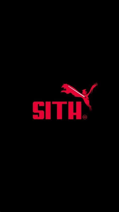 star wars minimalistic front sith puma parody logos