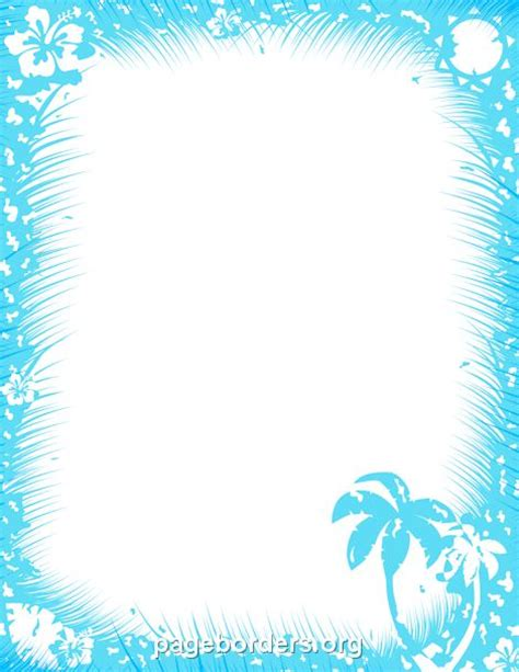 tropical stationery template printable tropical border free gif jpg pdf and png