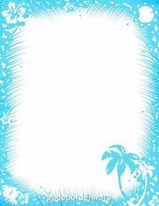 Printable Tropical Border  Free Gif  Jpg  Pdf  And Png