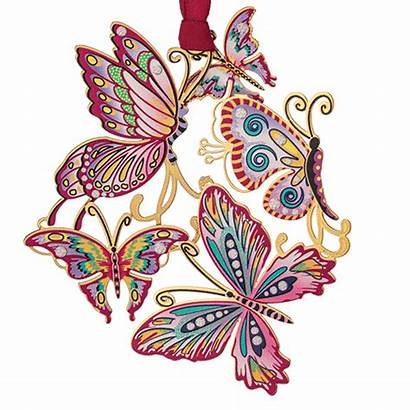 Collage Butterfly Springtime Ornaments Nature