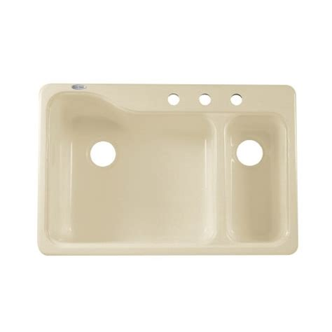 Americast Kitchen Sinks Silhouette by American Standard 7179 803 345 Silhouette 33 Inch Dual
